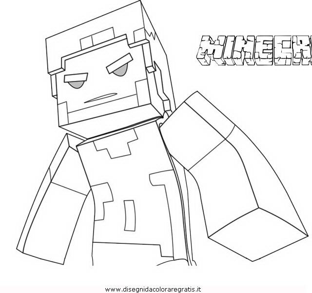 Disegno Minecraft Herobrine Misti Da Colorare