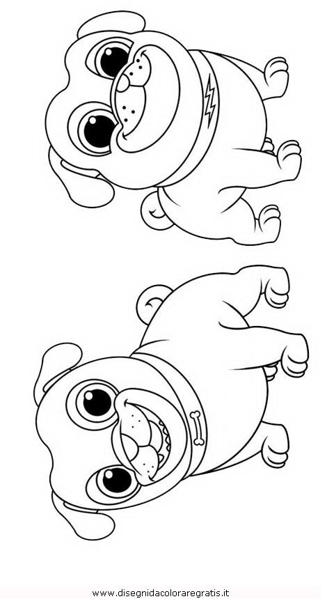 Disegno puppy_dog_pals_04: misti da colorare