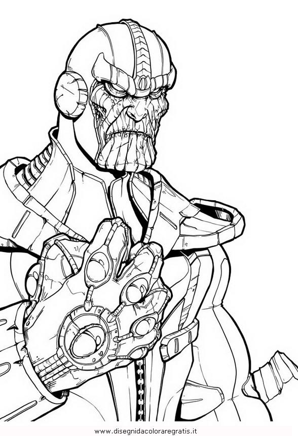 Disegno Thanos 4 Misti Da Colorare