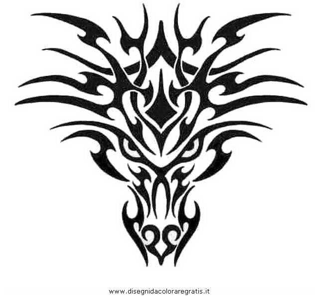 Favorito Disegno tatuaggi_tribali_01 misti da colorare JH15