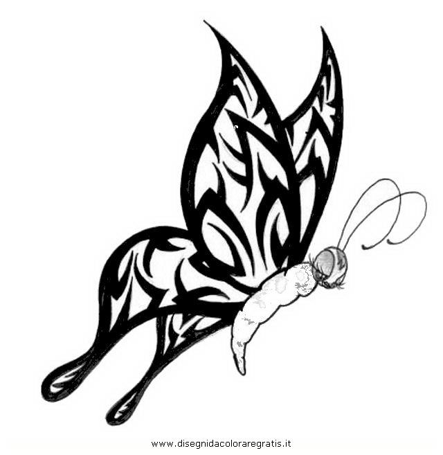 Super Disegno tatuaggi_tribali_08 misti da colorare KQ24