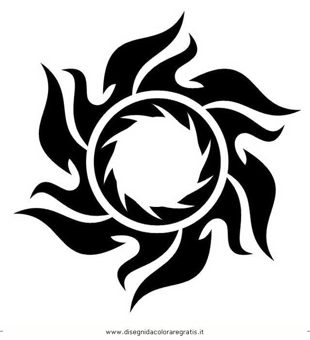 Super Disegno tatuaggi_tribali_09 misti da colorare IH48