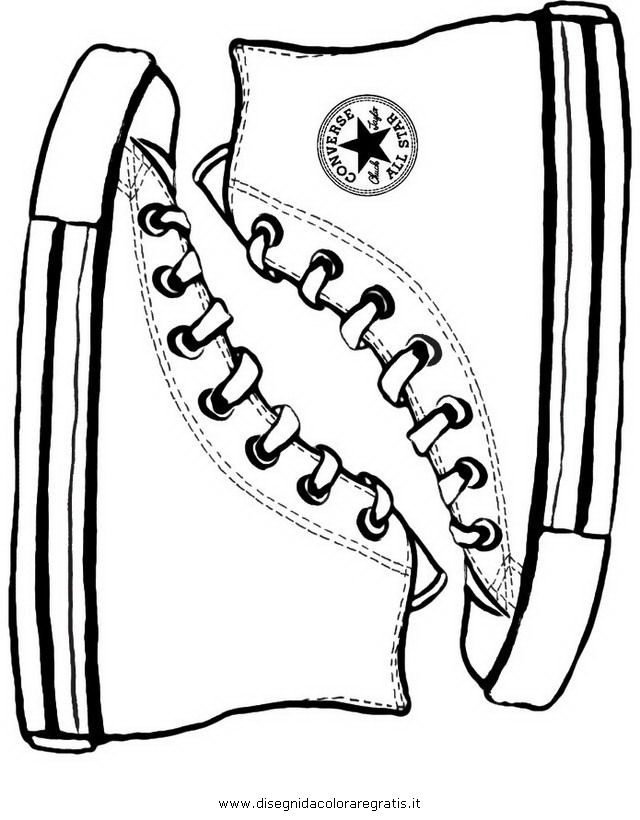 all star shoes coloring pages - photo#18