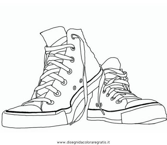Disegno Converse4 Misti Da Colorare