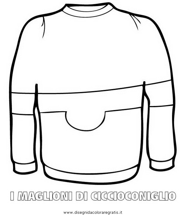 Felpa Disegno Da Colorare.Disegno Maglione Ciccioconiglio 03 Misti Da Colorare