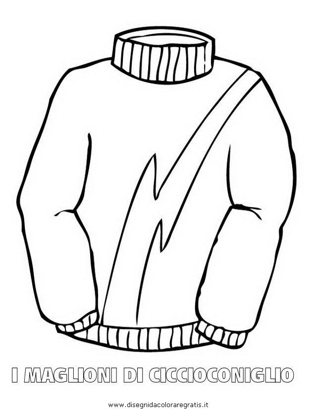 Felpa Disegno Da Colorare.Disegno Maglione Ciccioconiglio 12 Misti Da Colorare