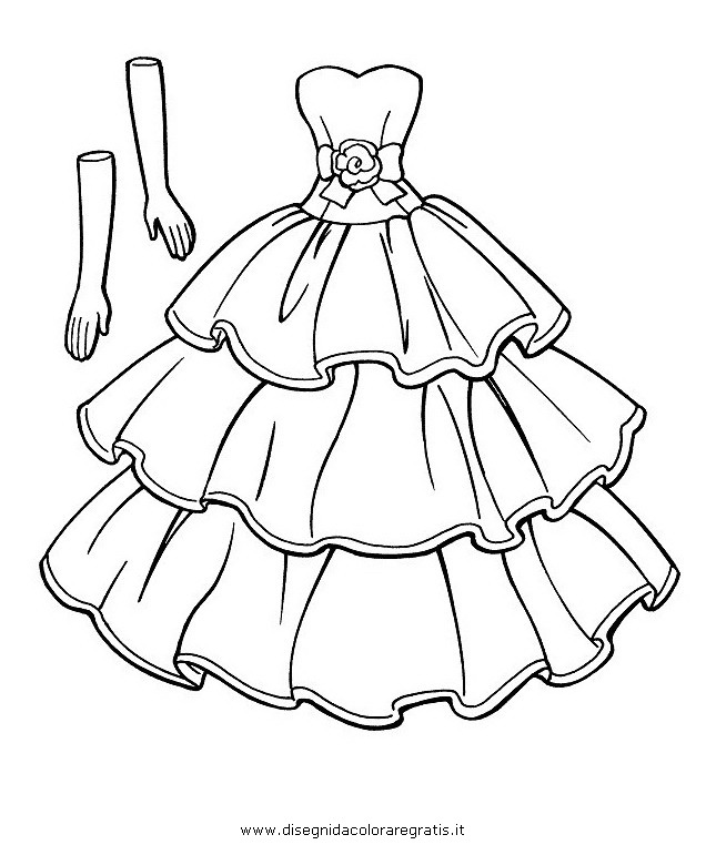 Favorito Disegno vestito_2 misti da colorare SD75