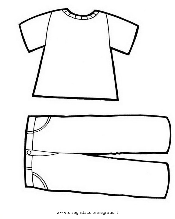 Pantalone Da Colorare.Disegno Vestito Vestiti 15 Misti Da Colorare