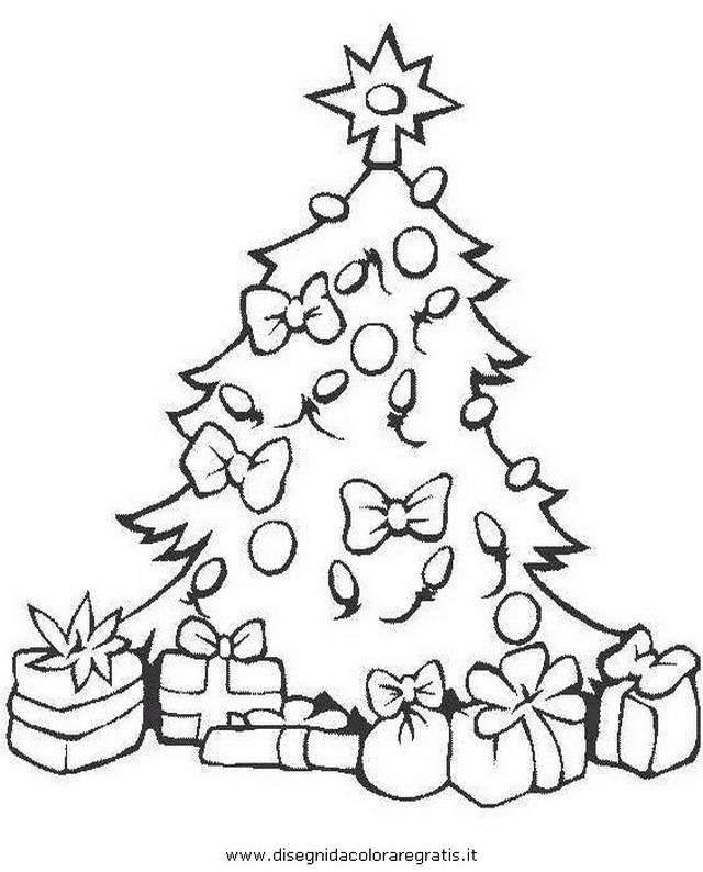 Albero Di Natale Con Regali Da Colorare.Disegno Albero Natale 24 Categoria Natale Da Colorare