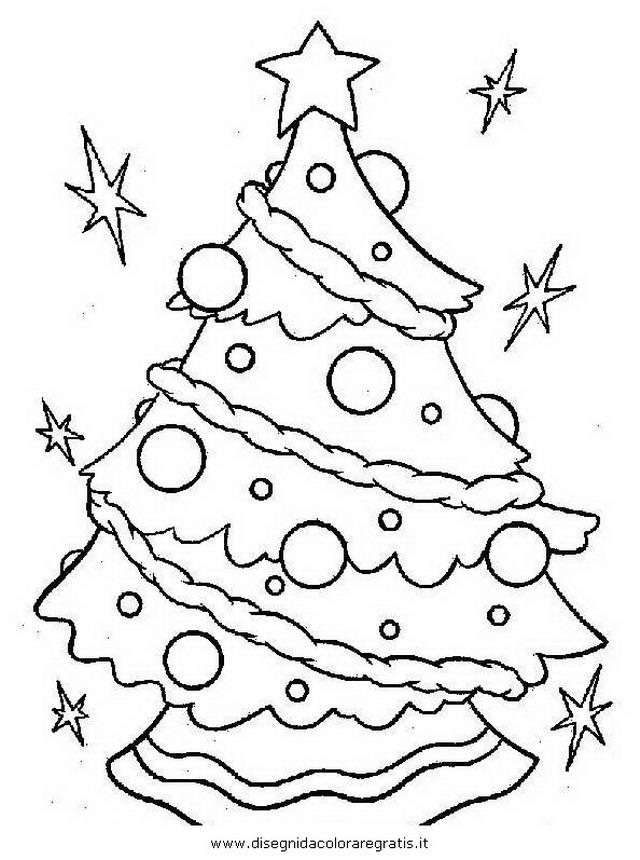 Disegno Albero Natale 28 Animali Da Colorare