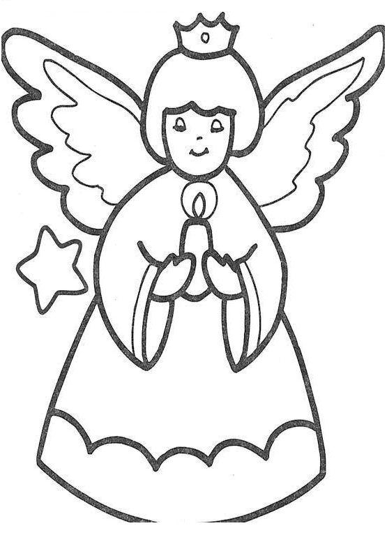 Disegno angelo natale 28 categoria natale da colorare for Figure di angeli da stampare