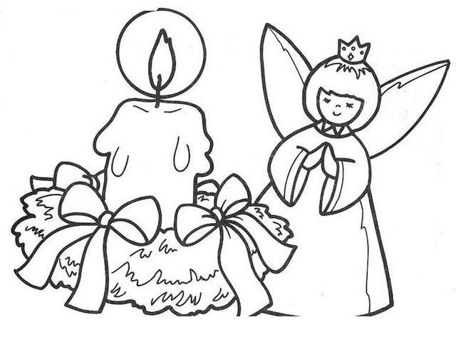 Disegno Angelo Natale 40 Categoria Natale Da Colorare