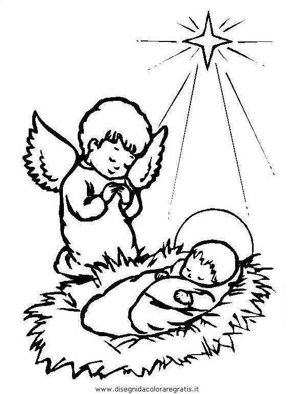 Angioletti Di Natale Da Colorare.Disegno Angelo Natale 46 Categoria Natale Da Colorare