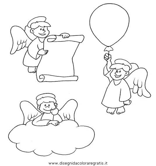 Disegno angelo natale 53 categoria natale da colorare for Disegni da colorare angeli