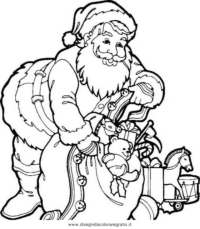 Disegno Babbo Natale 033 Categoria Natale Da Colorare