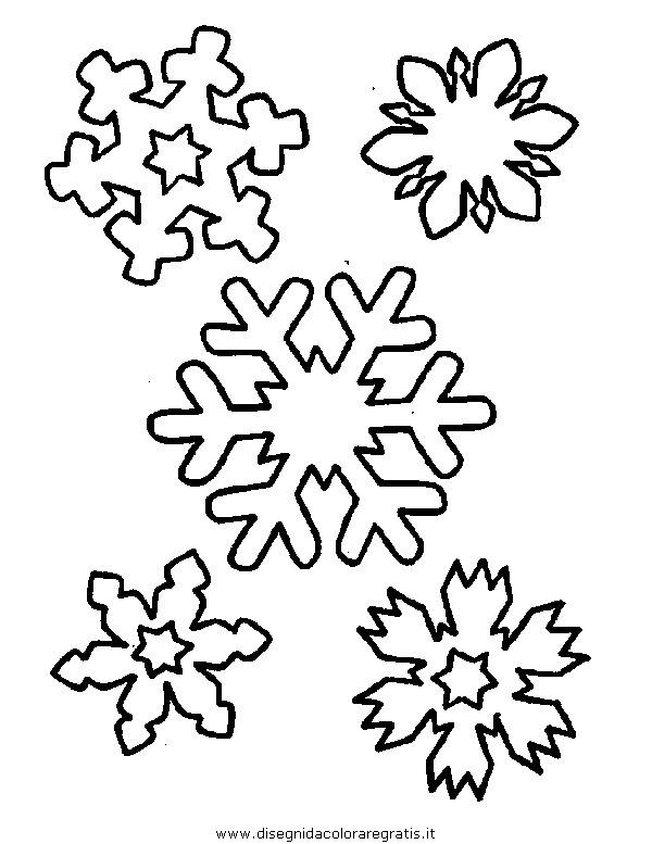 Disegno natale fiocco neve 21 categoria natale da colorare - Fiocco di neve da colorare foglio da colorare ...