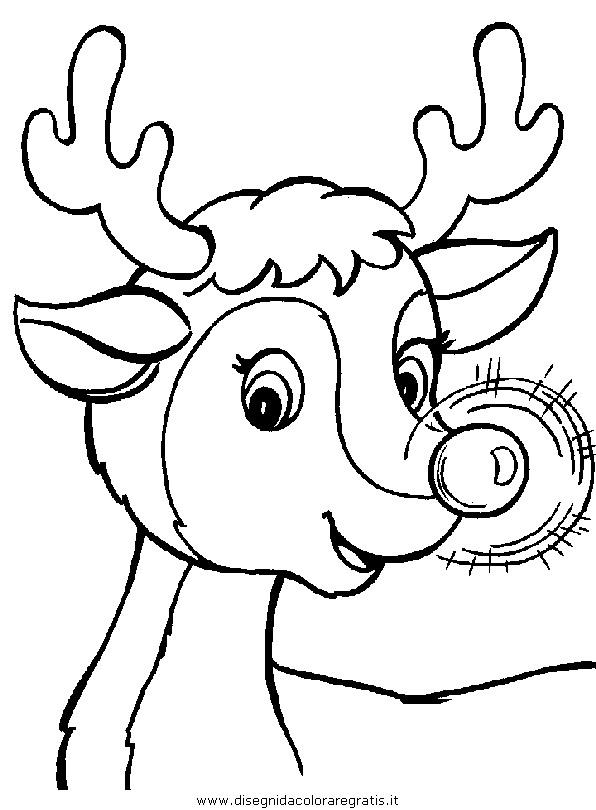 Renne Da Colorare.Disegno Natale Renna Renne 05 Categoria Natale Da Colorare