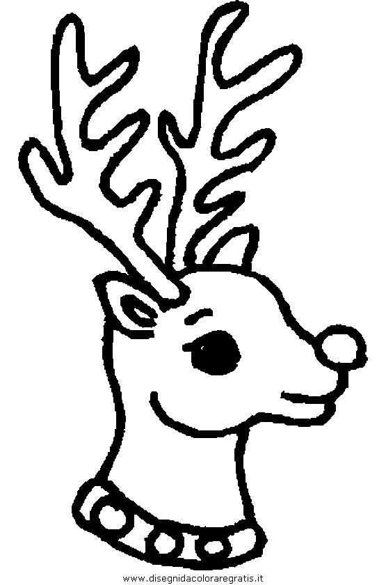 Disegni Di Natale Renne.Disegno Natale Renna Renne 19 Categoria Natale Da Colorare