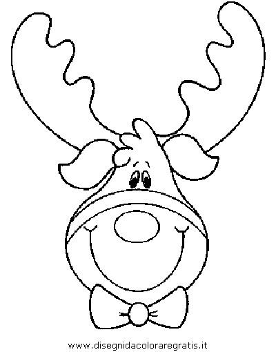 Disegno natale renna renne 34 categoria natale da colorare - Renne coloriage ...