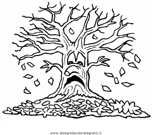 disegni da colorare alberi autunno