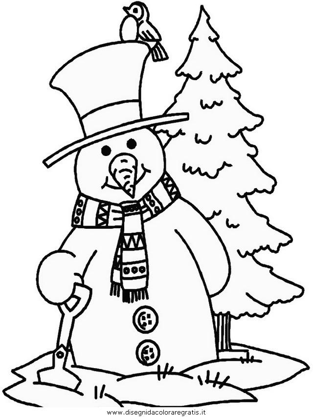 Disegni Da Colorare Invernali.Disegno Inverno 14 Categoria Natura Da Colorare