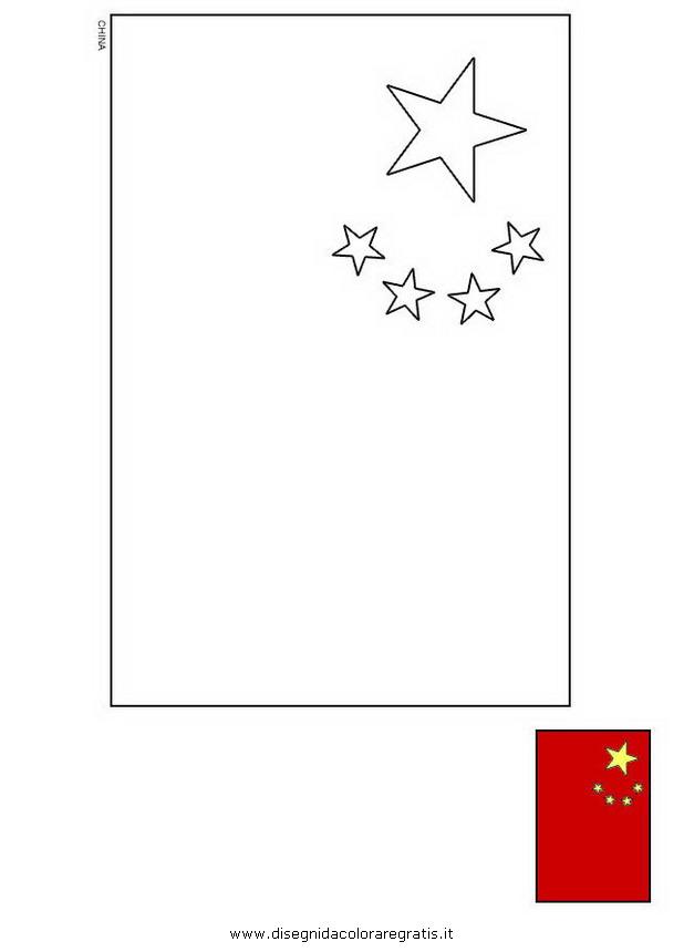 Disegno Bandiera Cina Categoria Nazioni Da Colorare