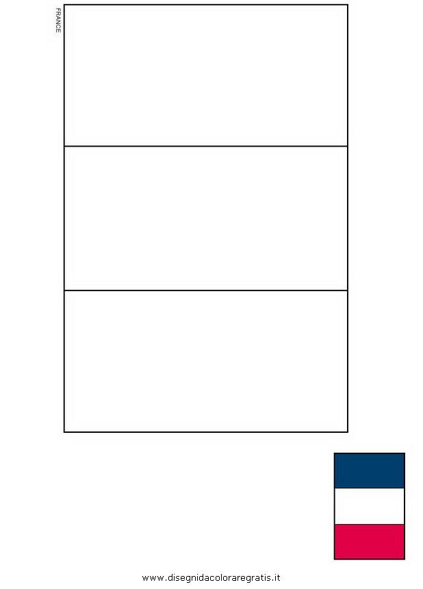 Disegno Bandiera Francia Categoria Nazioni Da Colorare