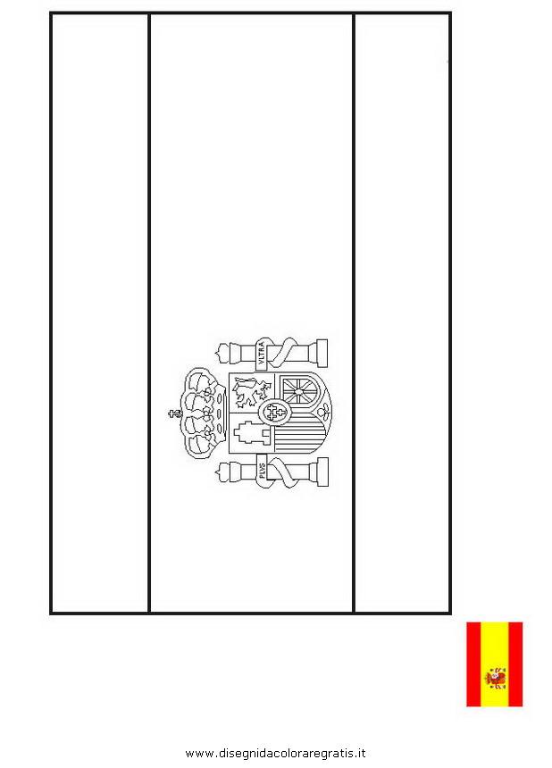 Disegno Bandiera Spagna Categoria Nazioni Da Colorare