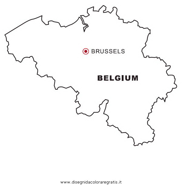 Cartina Del Belgio Da Stampare.Disegno Belgio Categoria Nazioni Da Colorare