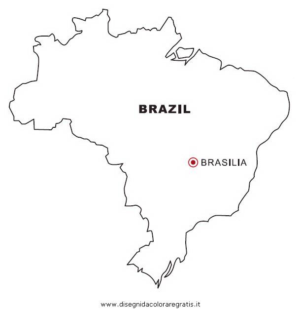 Cartina Russia Da Stampare.Disegno Brasile Categoria Nazioni Da Colorare
