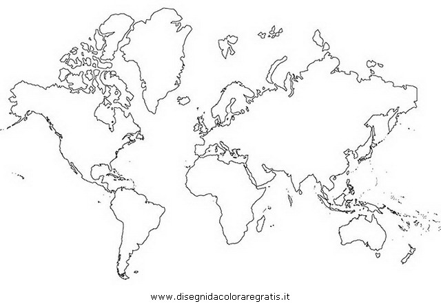 Disegno Cartina Mondo Categoria Nazioni Da Colorare