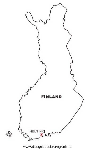Cartina Irlanda Da Colorare.Disegno Finlandia Categoria Nazioni Da Colorare