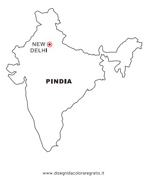 Cartina Muta India Da Stampare.Disegno India Categoria Nazioni Da Colorare