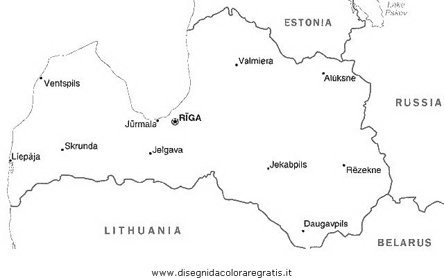 Disegno Cartina Lettonia Categoria Nazioni Da Colorare