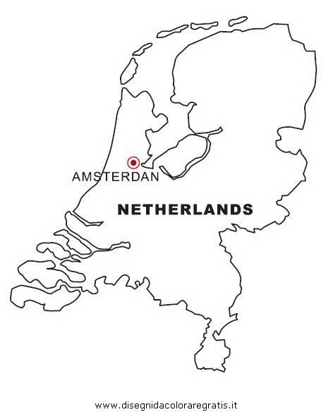 Olanda Cartina Fisica.Disegno Olanda Categoria Nazioni Da Colorare