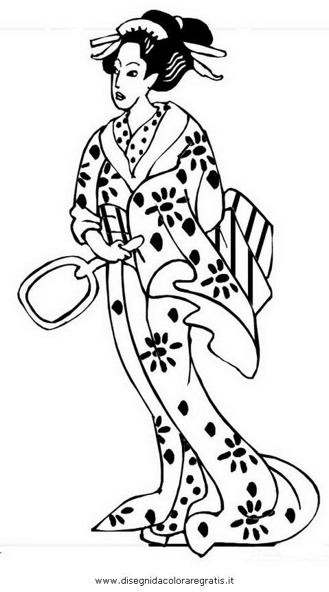 Disegno giappone geisha 3 categoria nazioni da colorare for Disegni tradizionali giapponesi