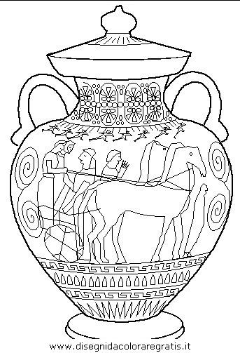 disegni vasi greci disegno anticagrecia anfora categoria nazioni da colorare
