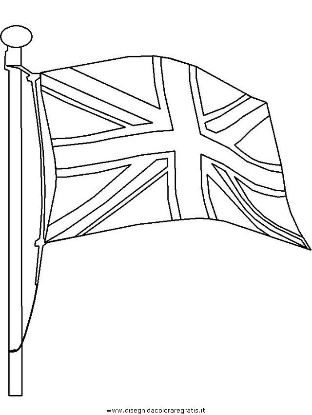 Bandiera Inglese Da Colorare.Disegno Inghilterra 12 Categoria Nazioni Da Colorare