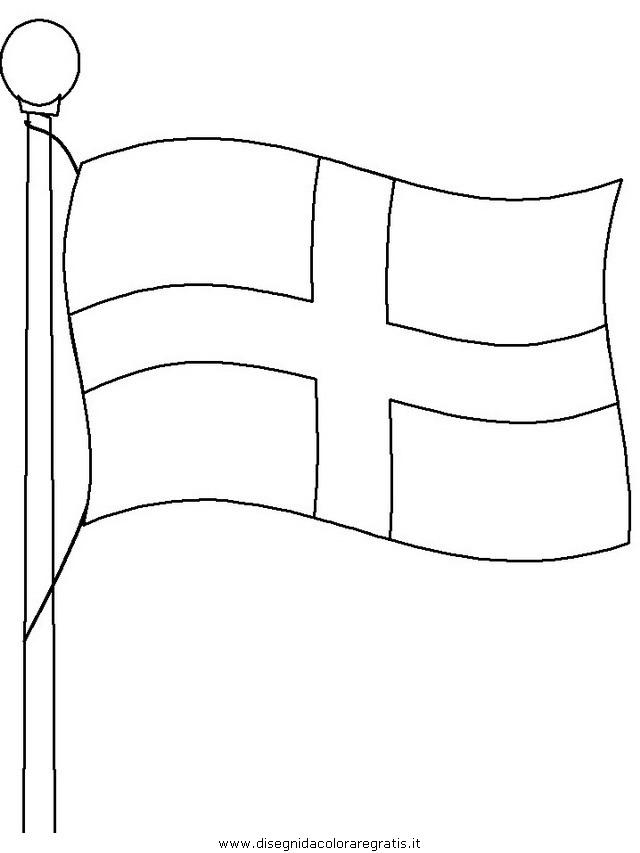Bandiera Inglese Da Colorare.Bandiera Inglese Bandiera Inghilterra Da Colorare Ardusat Org