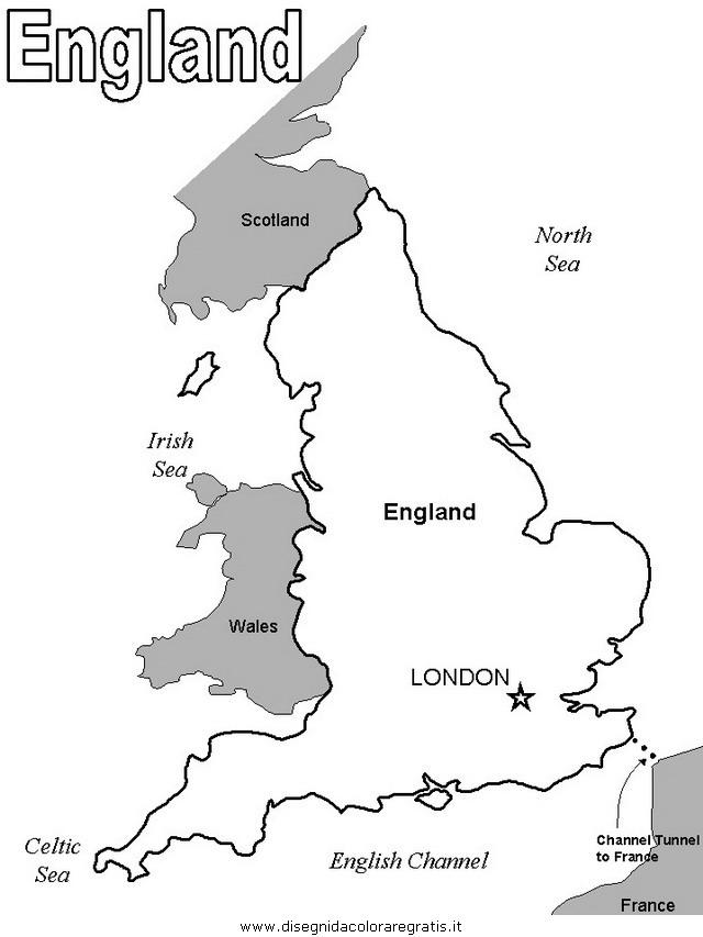 Regno Unito Cartina Da Colorare.Disegno Inghilterra 17 Categoria Nazioni Da Colorare