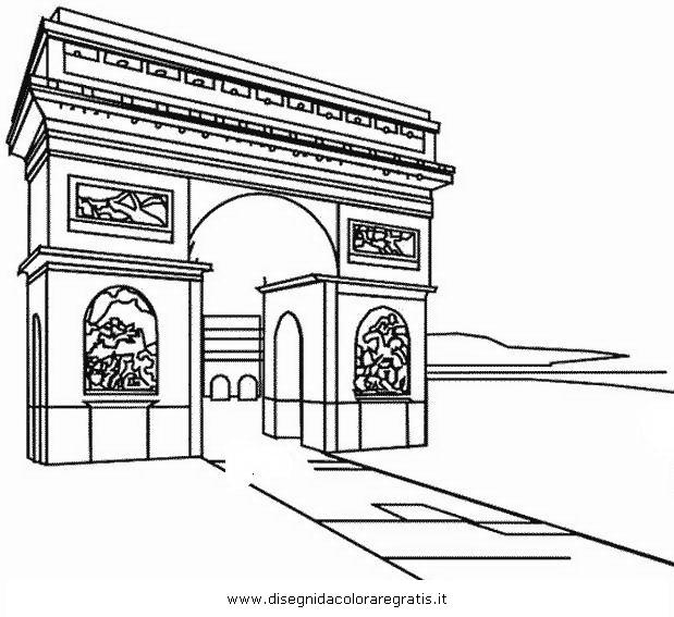 Disegno arco trionfo 12 categoria nazioni da colorare for Disegno di architettura online