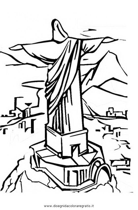 Disegni Da Colorare Gratis Rio.Disegno Brasile Rio Categoria Nazioni Da Colorare