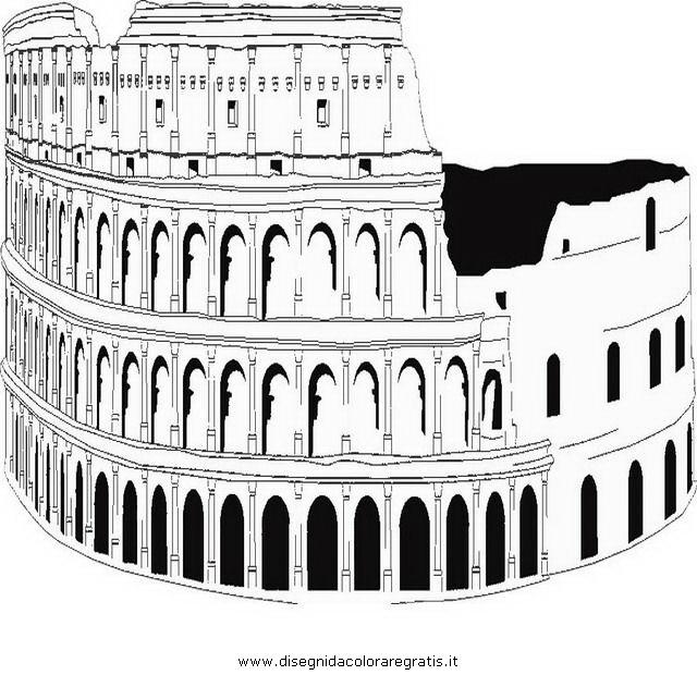 Disegno colosseo 9 categoria nazioni da colorare for Colosseo da colorare