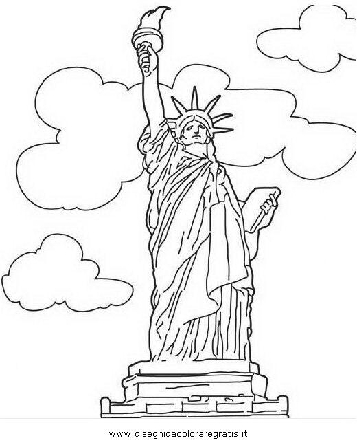 Disegno Monumento 02 Categoria Nazioni Da Colorare