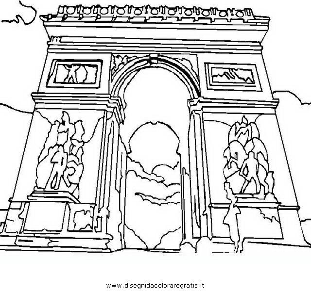Disegno parigi arco categoria nazioni da colorare for Disegnare giardini