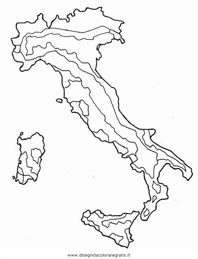Cartina Muta Regioni Italia.Disegno Italia Muta Categoria Nazioni Da Colorare