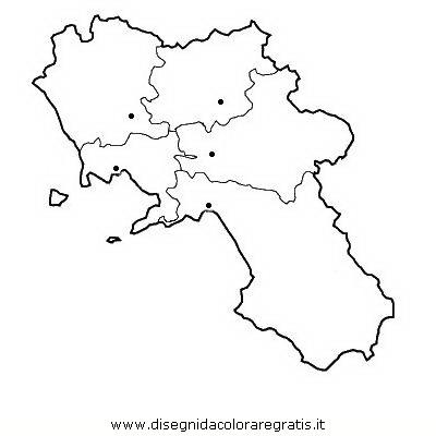 Cartina Muta Regioni Italia.Disegno Campania Categoria Nazioni Da Colorare
