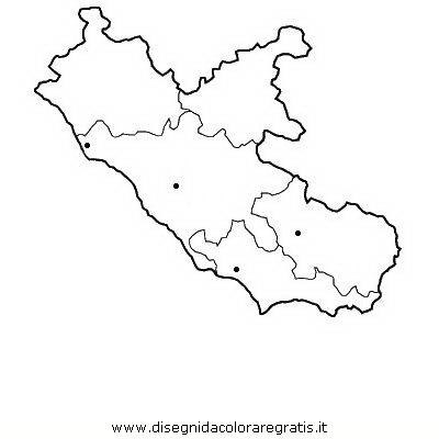 Cartina Regione Lazio Da Stampare.Disegno Lazio Categoria Nazioni Da Colorare