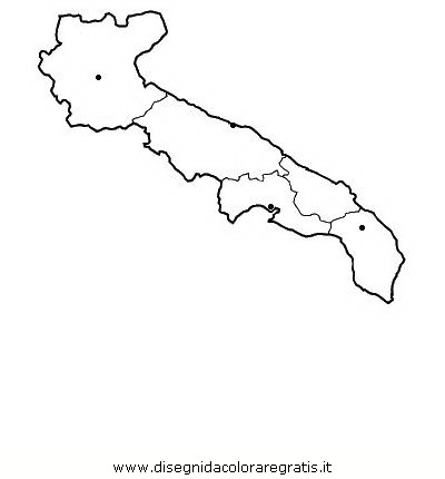 Cartina Muta Puglia.Disegno Puglia Categoria Nazioni Da Colorare