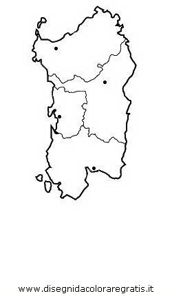 Cartina Sardegna Formato A4.Disegno Sardegna Categoria Nazioni Da Colorare